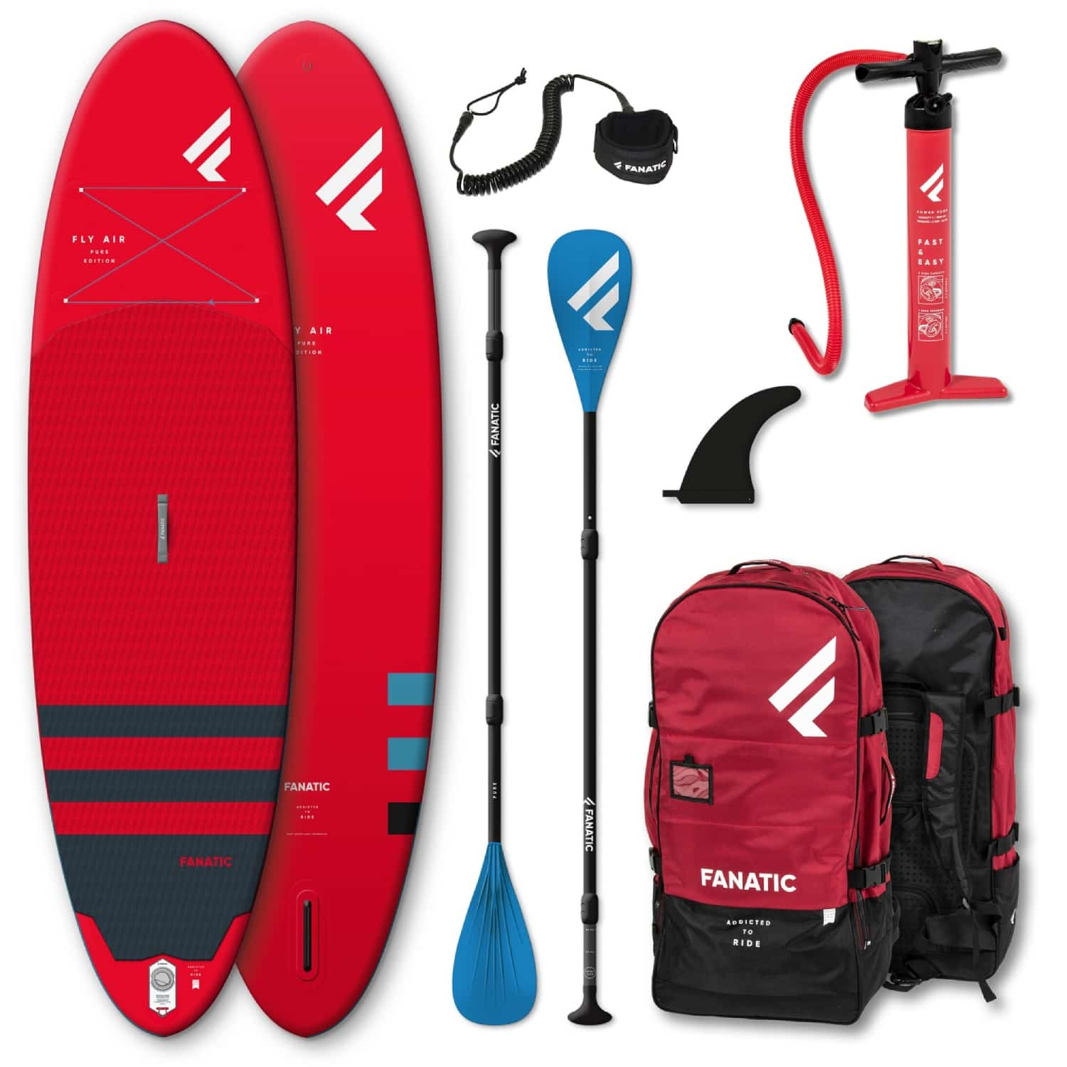 Fanatic Fly Air red Set mit Paddel 2021